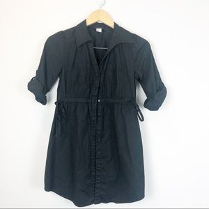 H&M Black Button Down Tunic